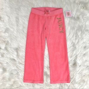 NWT Girls Juicy Couture Velour Pants